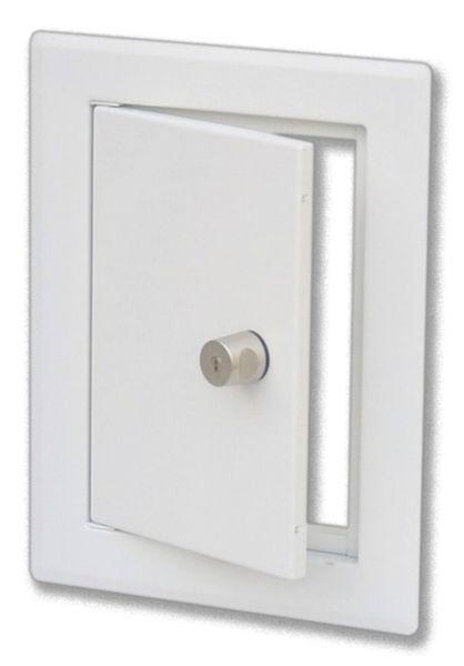 Einwurftür CLASSIC edelstahl - weiß, versperrbar