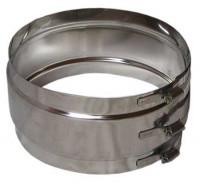 Wäscheschacht - Verbindungsschelle breit 125mm
