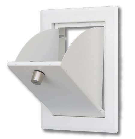 Einwurfklappe CLASSIC edelstahl - weiß, versperrbar