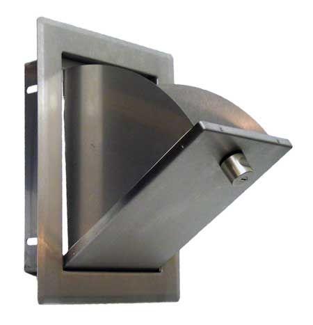 Einwurfklappe CLASSIC edelstahl - gebüstet, versperrbar